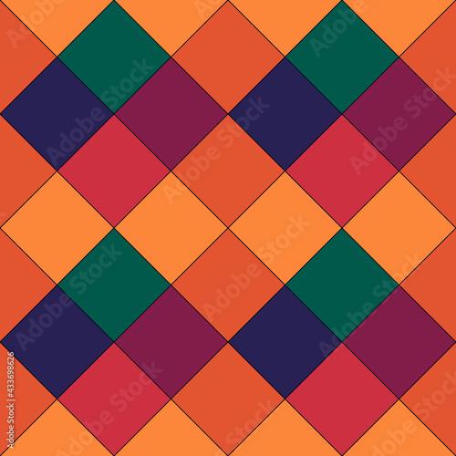 Tapety Eklektyczne  diamenty-romby-plytki-kwadraty-sprawdza-wzor-etniczne-kwiecisty-ozdoba-ludowa-obraz-geometryczny-plemienna-tapeta-geometryczne-tlo-motyw-retro-etniczny-nadruk-na-tkaninie-grafika-wektorowa