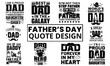 Father's Day Quotes Typography Design. Awesome Dad day text vector design for t-shirt, banner, poster, mug, etc