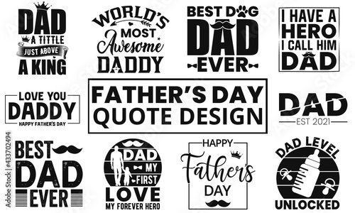 Canvas-taulu Best Selling Father's Day Quotes Design