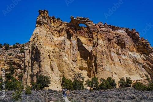 Canvas-taulu Grosvenor Arch is located in the Grand Staircase Escalante National Monument in