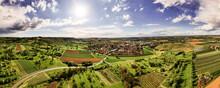 Panorama Luftaufnahmen Von Pfedelbach Mit Der Drohne