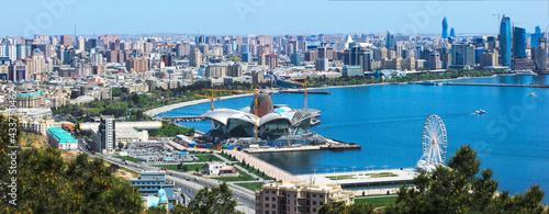 Foto Baku city. Azerbaijan. View of the city from the upland park.