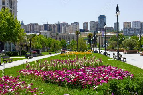 Canvas Baku. Azerbaijan. 05.25.2020 year. New winter boulevard.