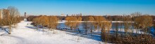 Wintertime Fun On A Frozen Pond In Zoetermeer, The Netherlands
