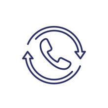 Request Phone Call, Callback Line Icon