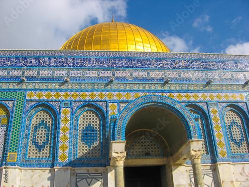 Dome of the Rock, Jerusalem, Palestine Fotobehang