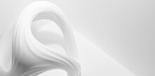 Abstract Modern Curved White Shape Background