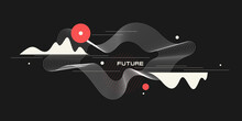 Trendy Abstract Background. Composition Of Geometric Forms. Modern Vector Illustration