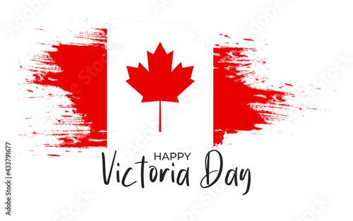Happy victoria day canada vector illustration Fototapeta