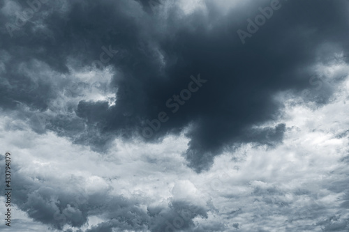 Canvastavla Dramatic cloudy sky as abstract background.