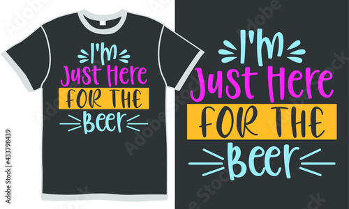 Canvas i'm just here for the beer, funny quotes food, alcohol drinks gift, beer lover d