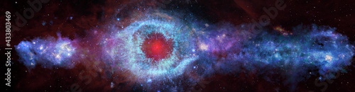 Panoramic space background, helix eye galactic. Elements of this image furnished by NASA.