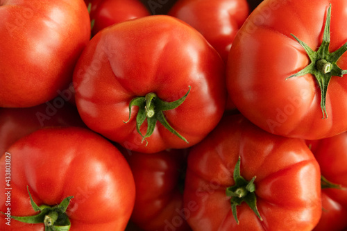 Raspberry tomatoes of Polish production close-up.