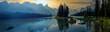 Leinwandbild Motiv wonderful lake in the mountain outside the city