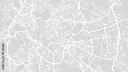 Foto White and light grey Rome city area vector background map, streets and water cartography illustration