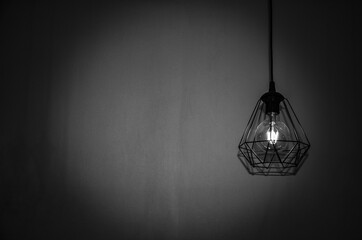 light bulb hanging on the wall