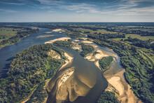 Shoals On The Vistula River Aerial View