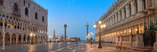 Canvas Print Banner, San Marco square at night, early morning