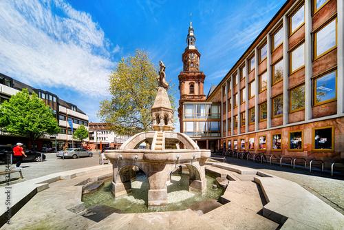 The Siegfried Fountain in Worms Fototapeta