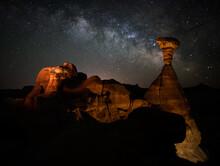 Toadstool Hoodoos Milky Way