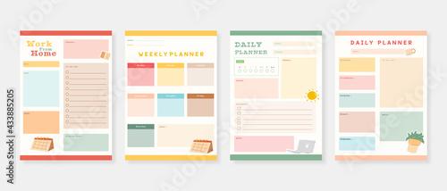 Foto Modern planner template set