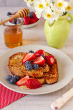 Breakfast With French Toast And Berry Fruits