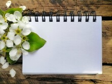 White Paper And Flowers