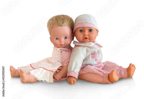 Tiny tots dolls in pink clothes Fototapet