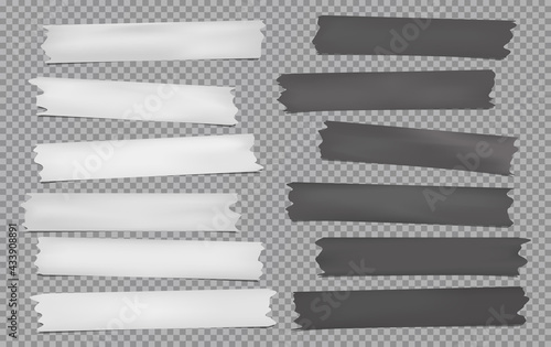 Tela White, dark grey different size adhesive, sticky, masking, duct tape, paper piec