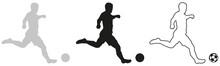 SILHOUETTE FOOTBALLEUR