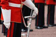 British Changing Of The Guard At Buckingham Palace