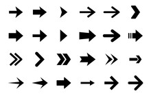 Arrow Vector Set. Arrow Icon Collection. Variety Of Different Arrows Symbol For Web UI Design. Flat Style Isolated Arrow Design Elements.