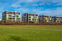 Eine Moderne Neubausiedlung Am Stadtrand Von Frankfurt Am Main