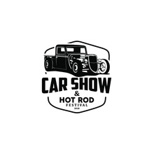 Car Show And Hot Rod Logo Vector