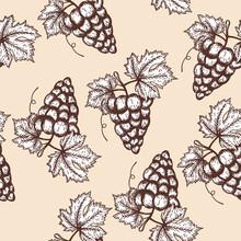 Seamles Pattern Of Grape