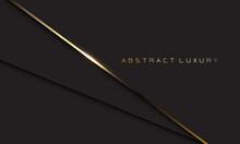 Abstract Luxury Gold Line Shadow Overlap On Dark Grey Background Design Modern Vector Illustration.