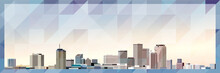 New Orleans Skyline Vector Colorful Poster On Beautiful Triangular Texture Background