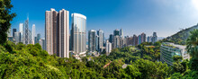 Mid-Levels Central Panoramic View In Hong Kong Island