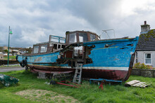 An Old Abandoned Ship In Scotland.