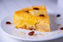 Breton Cake With Apple. Traditional English Recipe.