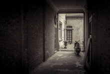Scooter In Old Home