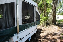 Pop Up Camping Trailer For Traveling And Sleeping.