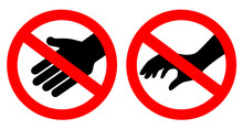Do Not Touch Vector Sign