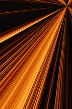Abstract Black Background With A Splash Of Bright Orange Light Lines On It