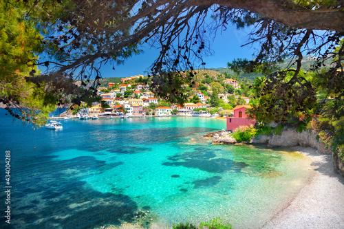 Tela Assos beach in Kefalonia, Greece
