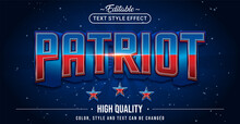 Editable Text Style Effect - Patriot Text Style Theme.