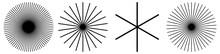 Radial Lines, Stripes. Radiating Streaks, Strips. Beams, Rays, Starburst, Sunburst Element