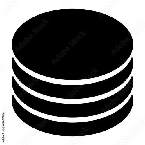 Stampa su Tela Stacked, pile circles symbol, icon