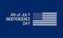 4th Of July - Usa Independence Day, Holiday Banner Or Social Media Post Template