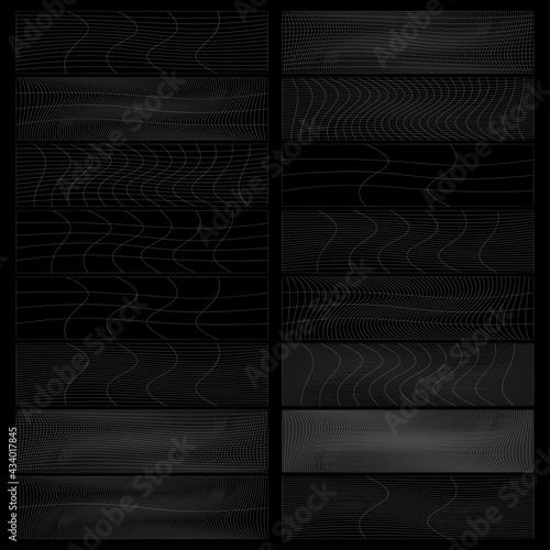 Fototapeta Set of rectangles w distort, deform effect vector illustration